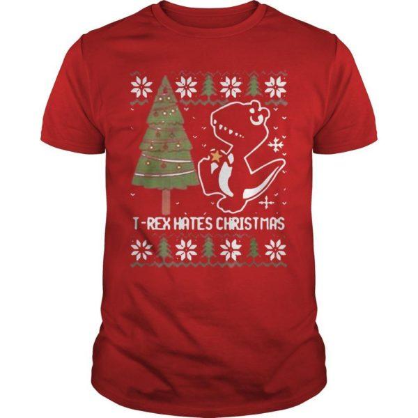 Dinosaur T Rex Hates Christmas Shirt
