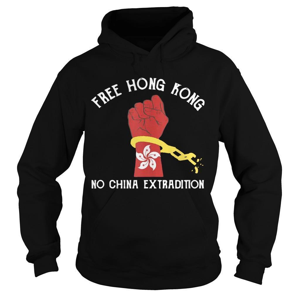 Free Hong Kong No China Extradition Hoodie