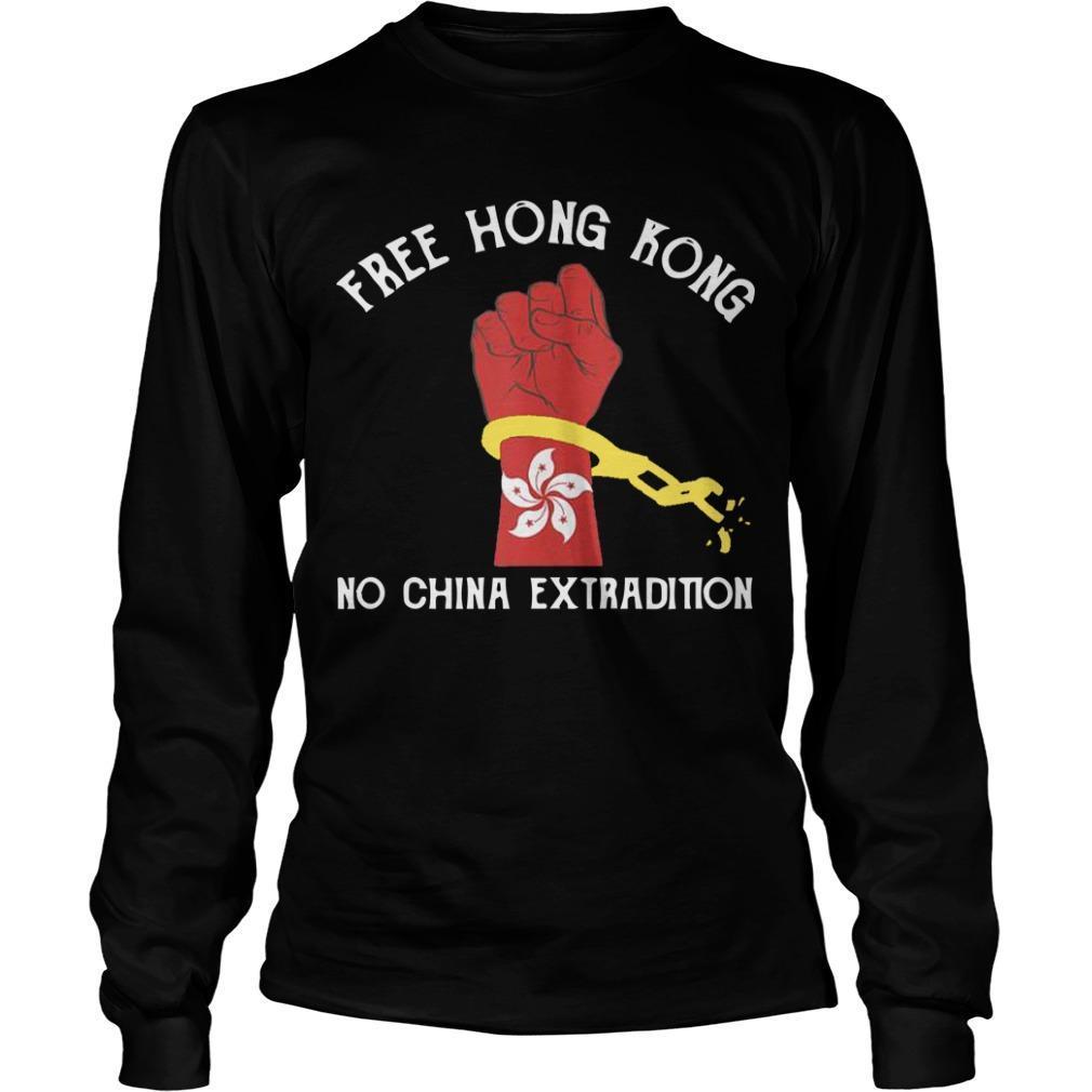 Free Hong Kong No China Extradition Longsleeve