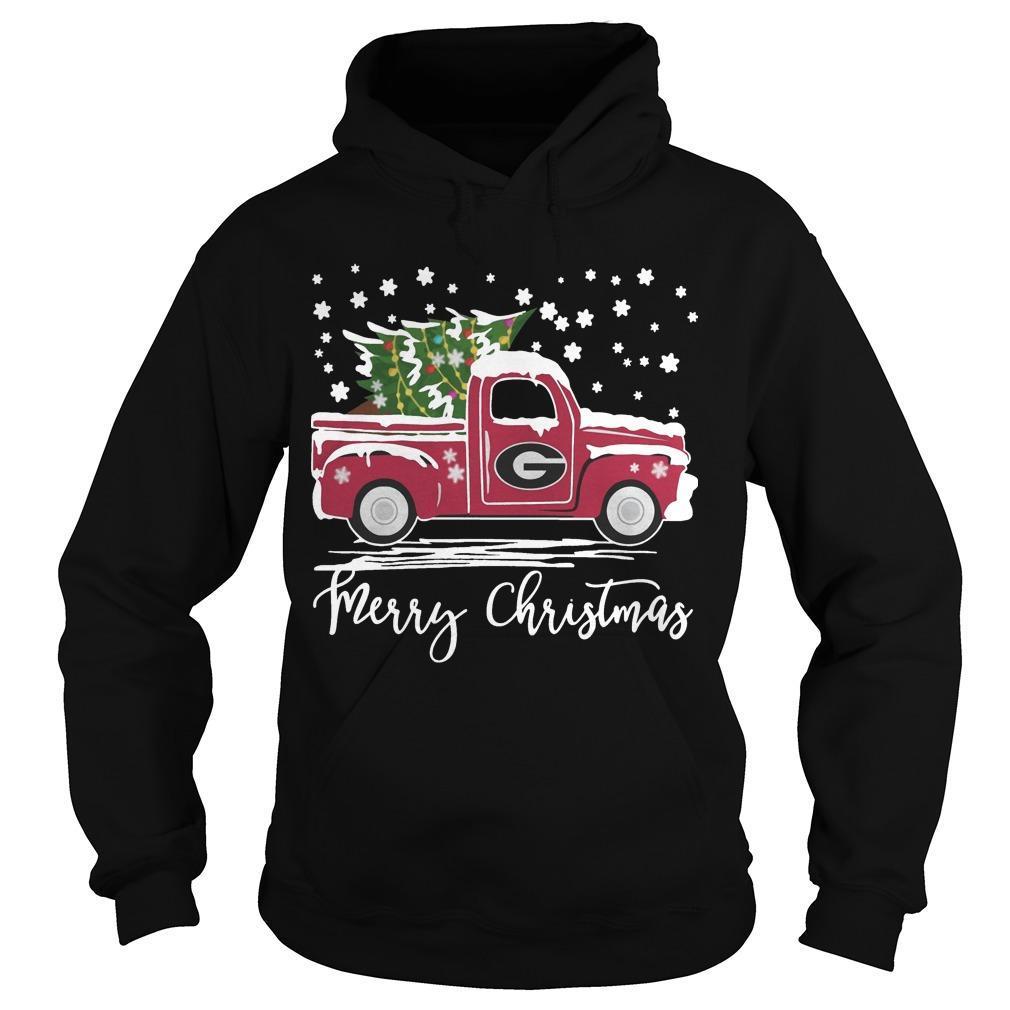 Green Bay Packer Pickup Truck Merry Christmas Hoodie
