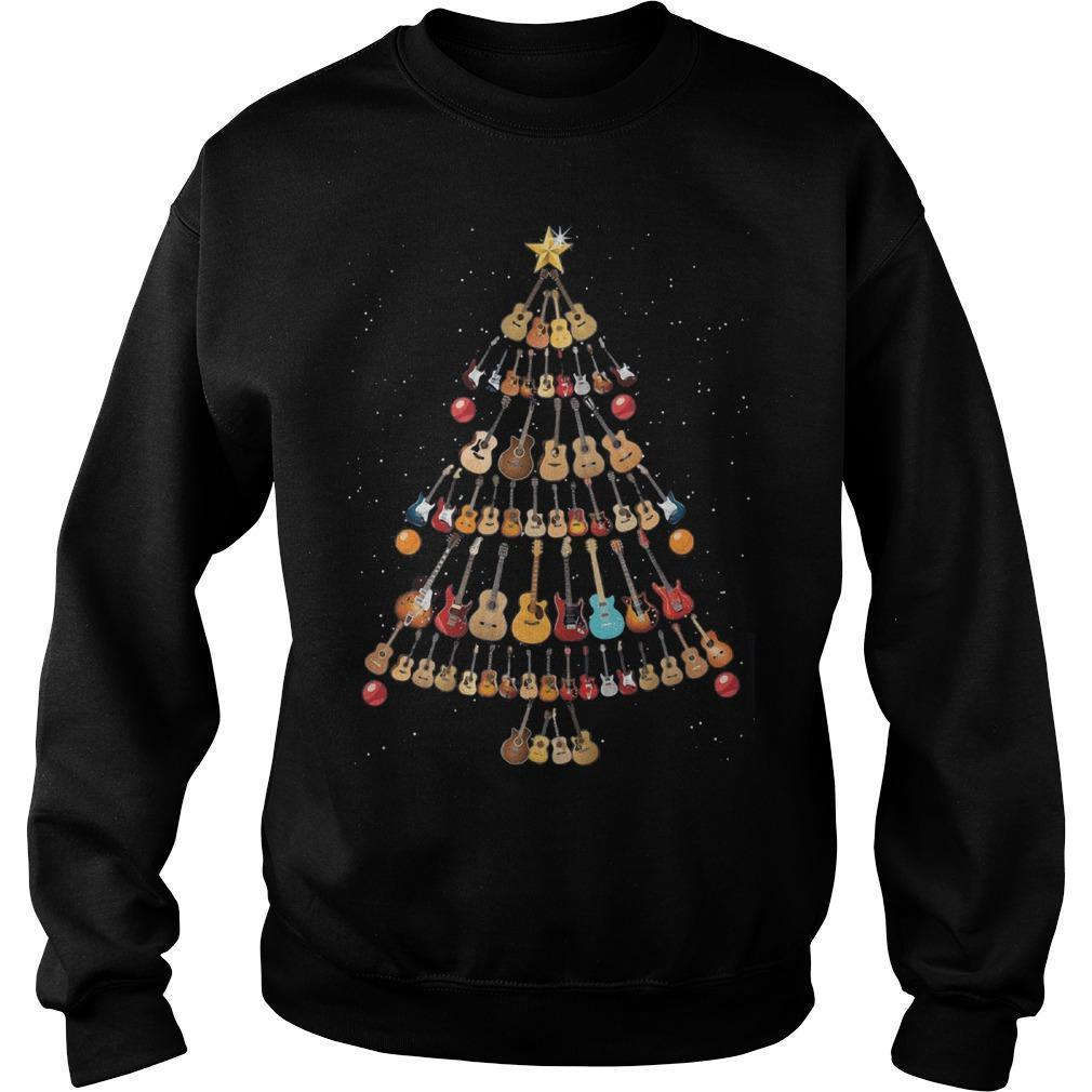 Guitar Christmas Tree Sweater