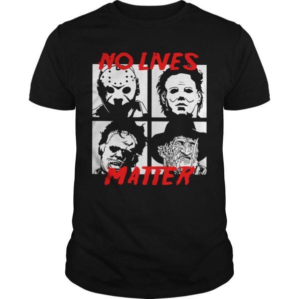 Horror Characters No Live Matter Shirt