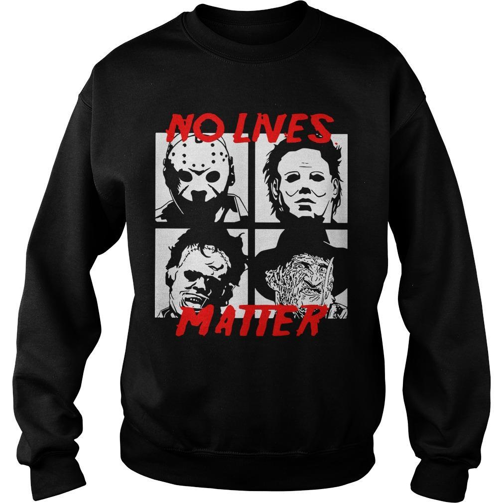 Horror Characters No Live Matter Sweater
