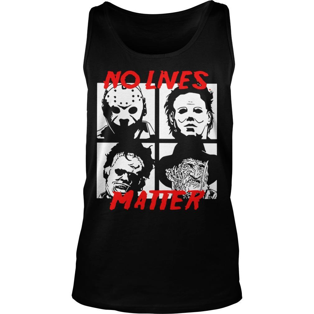 Horror Characters No Live Matter Tank Top
