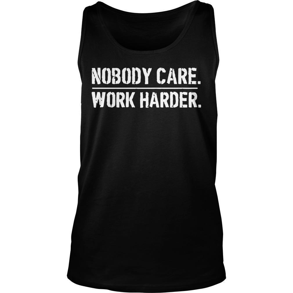 Lamar Jackson Nobody Cares Work Harder Tank Top