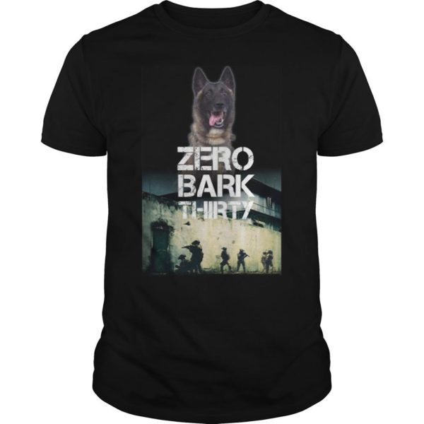 Military Dog Zero Bark Thirty T Shirt