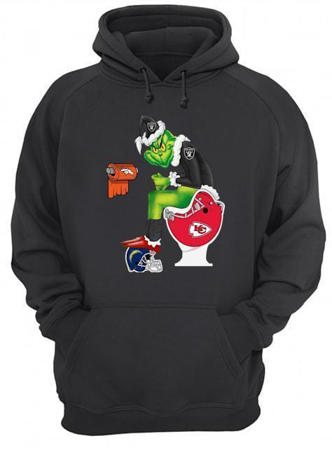Oakland Raiders Grinch Toilet Kansas Chiefs Denver Broncos Angeles Chargers Hoodie