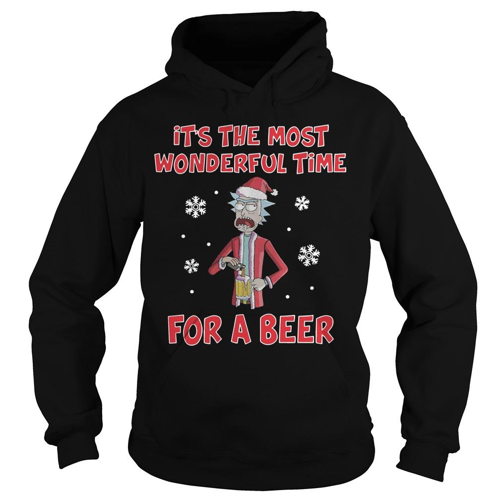 Rick Sanchez It's The Most Wonderful Time For A Beer Hoodie