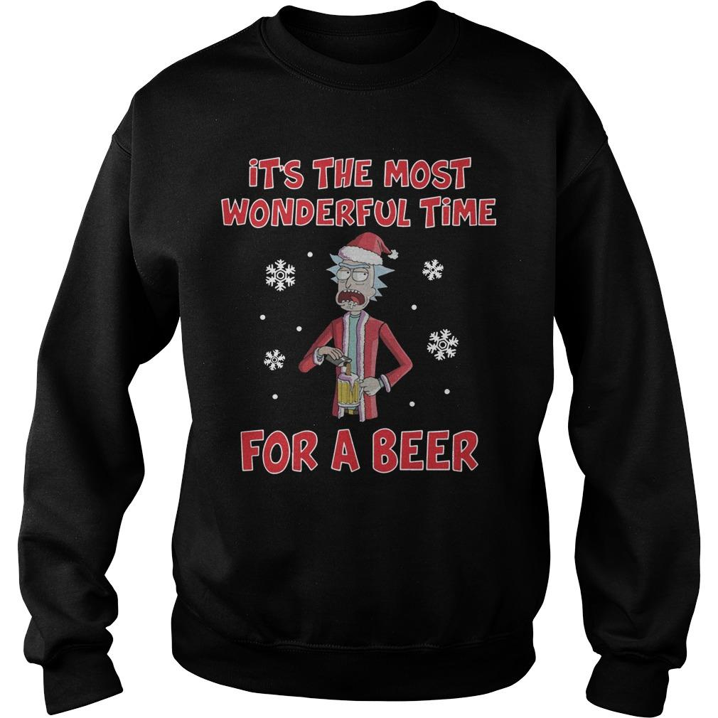 Rick Sanchez It's The Most Wonderful Time For A Beer Sweater