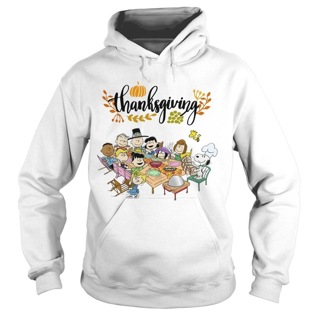 Snoopy Peanut Character Thanksgiving Hoodie