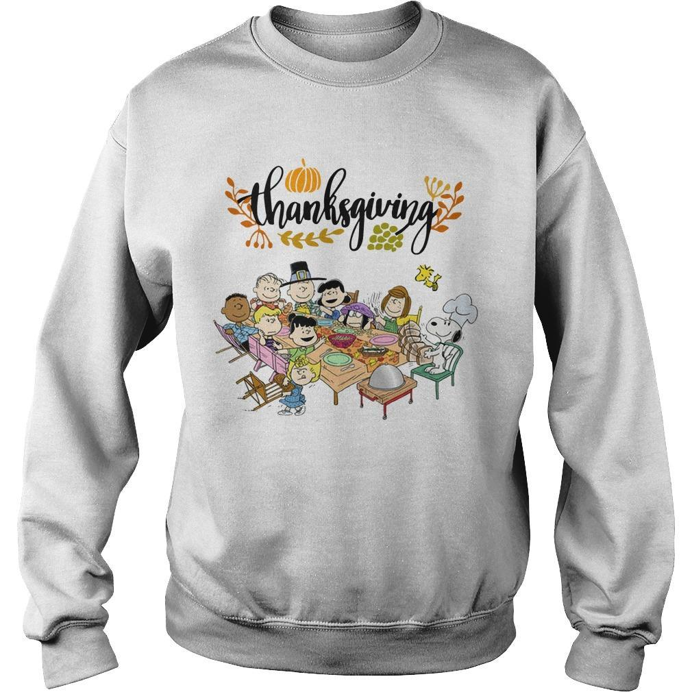 Snoopy Peanut Character Thanksgiving Sweater
