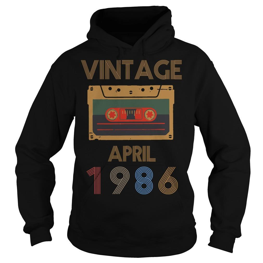 Video Tape Vintage April 1986 Hoodie