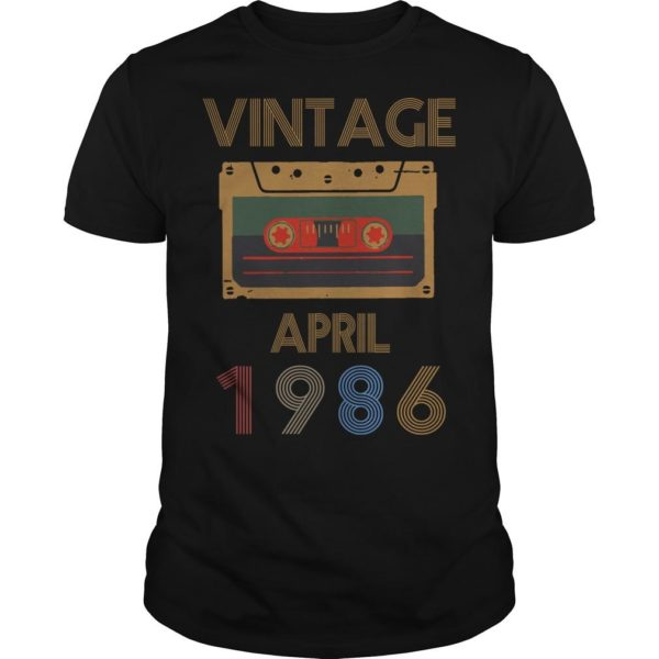 Video Tape Vintage April 1986 Shirt