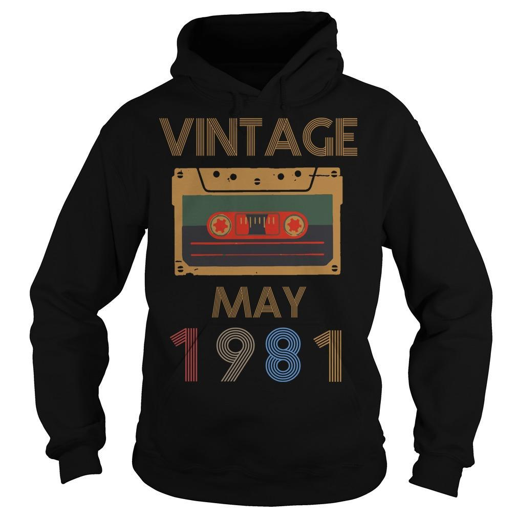 Video Tape Vintage May 1981 Hoodie