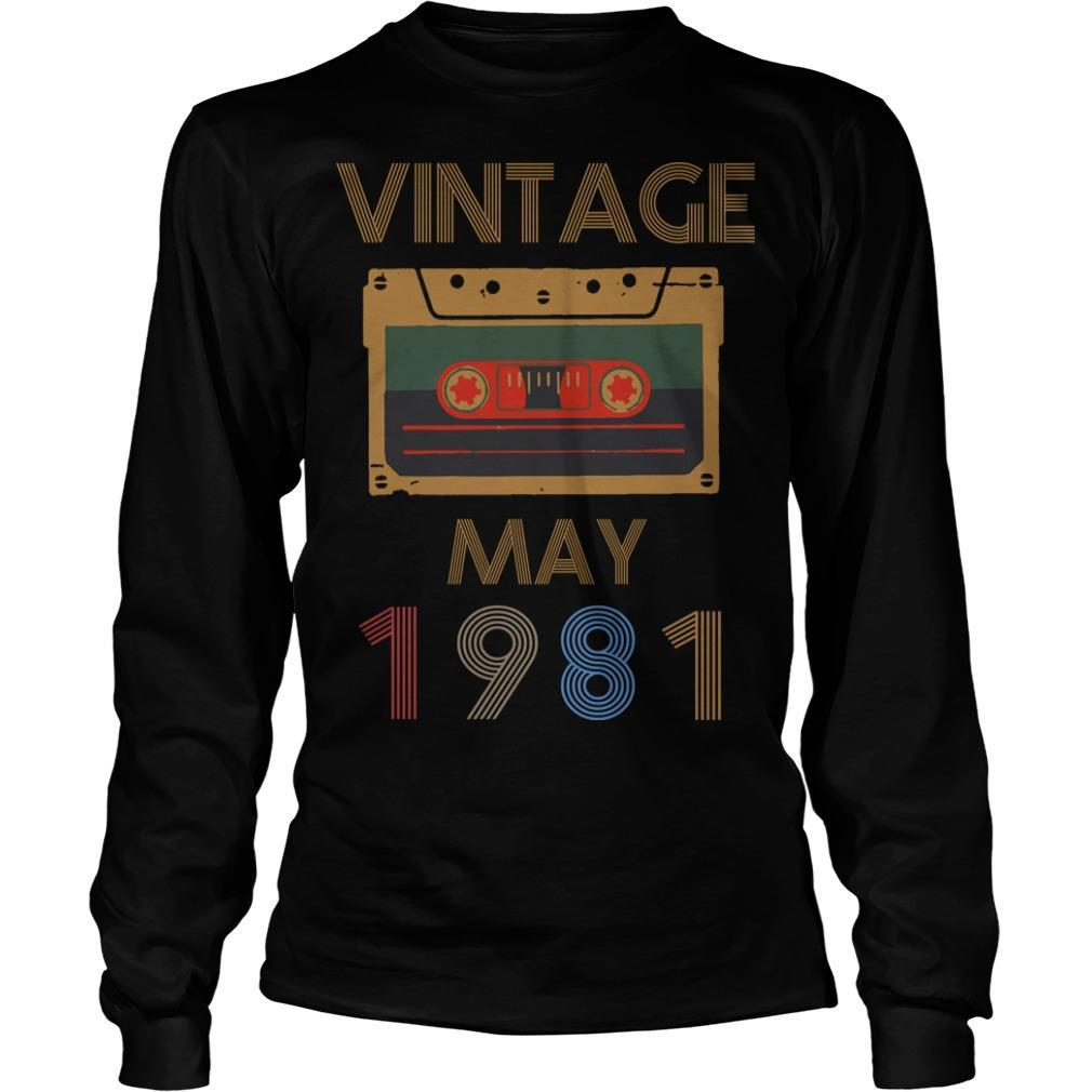 Video Tape Vintage May 1981 Longsleeve