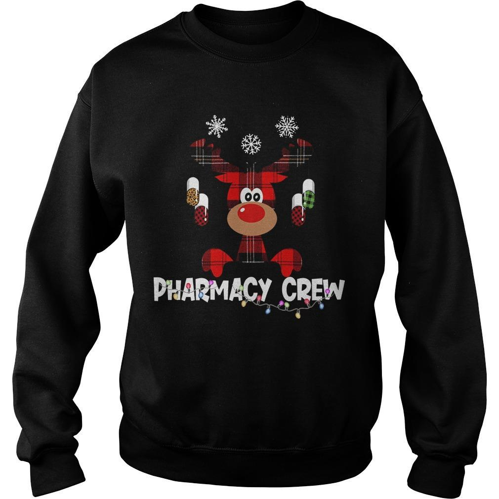 Christmas Reindeer Pharmacy Crew Sweater