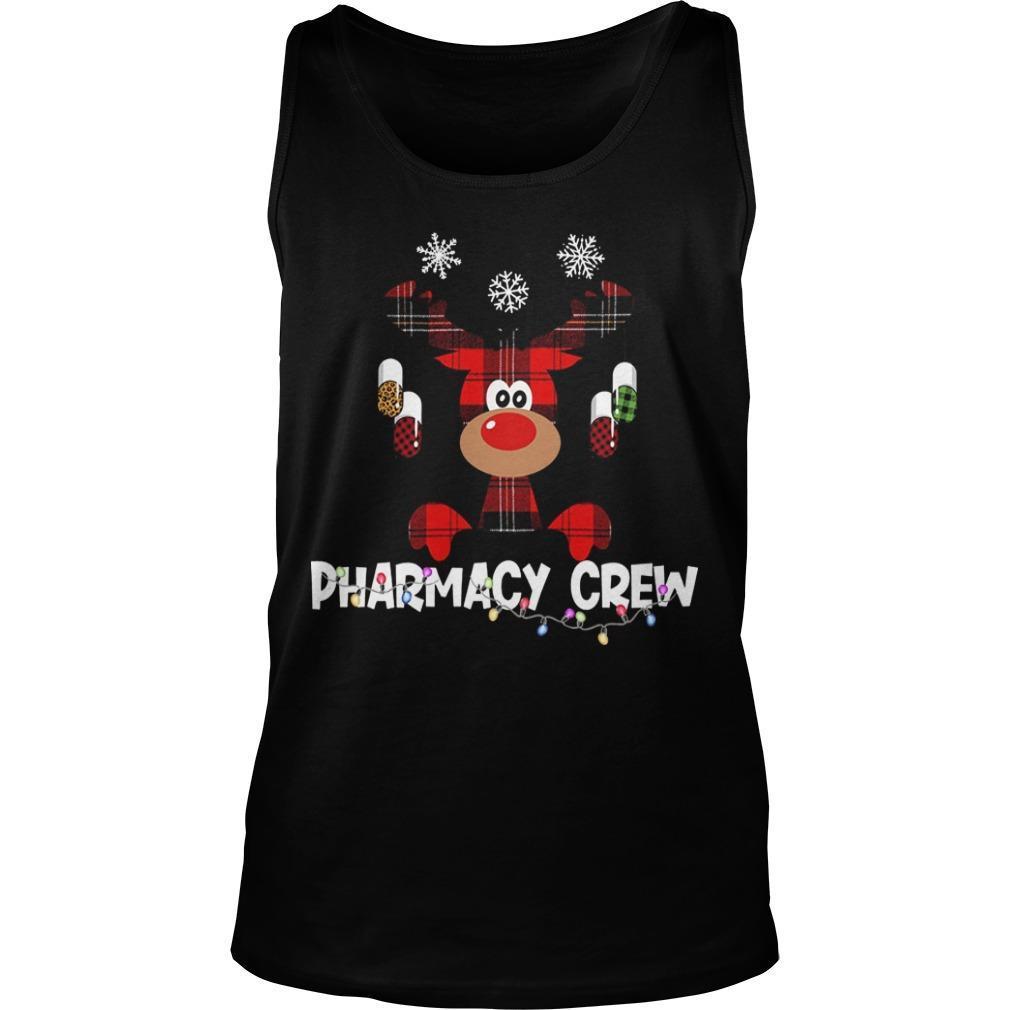 Christmas Reindeer Pharmacy Crew Tank Top