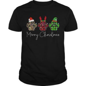 Merry Christmas Dog Paw Shirt