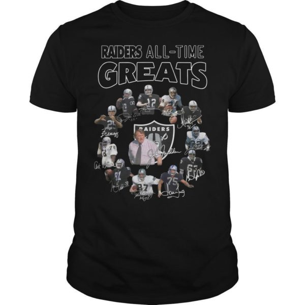 Oakland Raiders All Time Greats Shirt