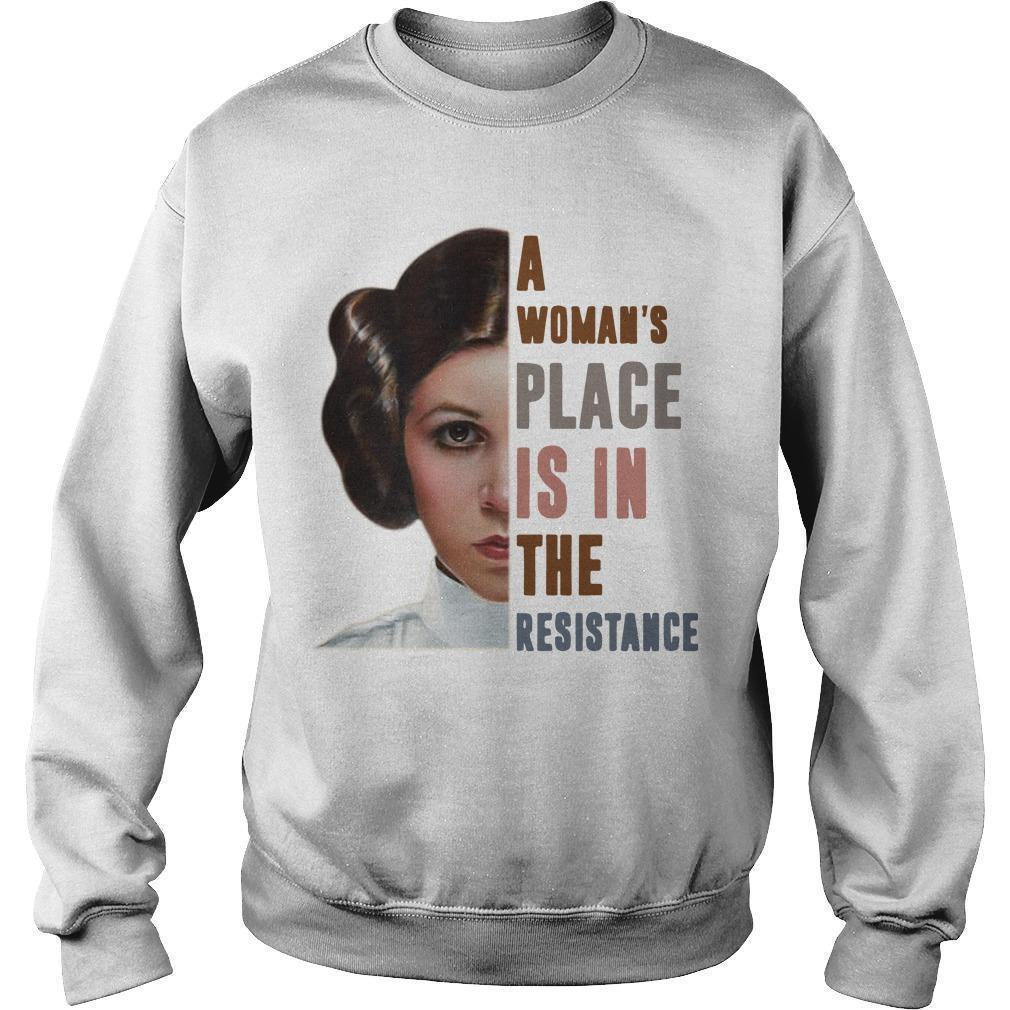 Princess Leia A Woman's Place Is In The Resistance Sweater