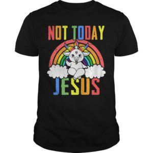 Satan Baphomet Lgbt Not Today Jesus Shirt
