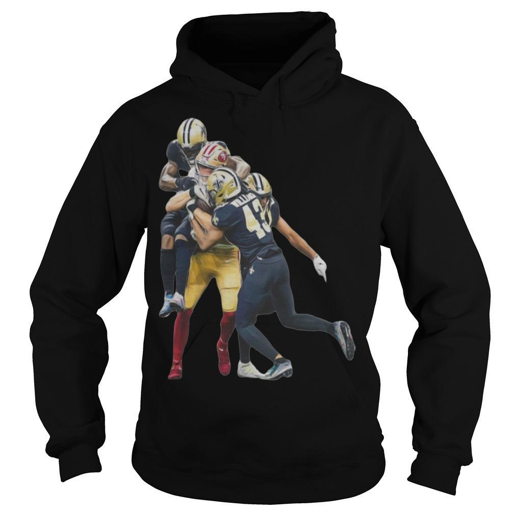 Sprint Football San Francisco 49ers And New Orleans Saints Players Hoodie