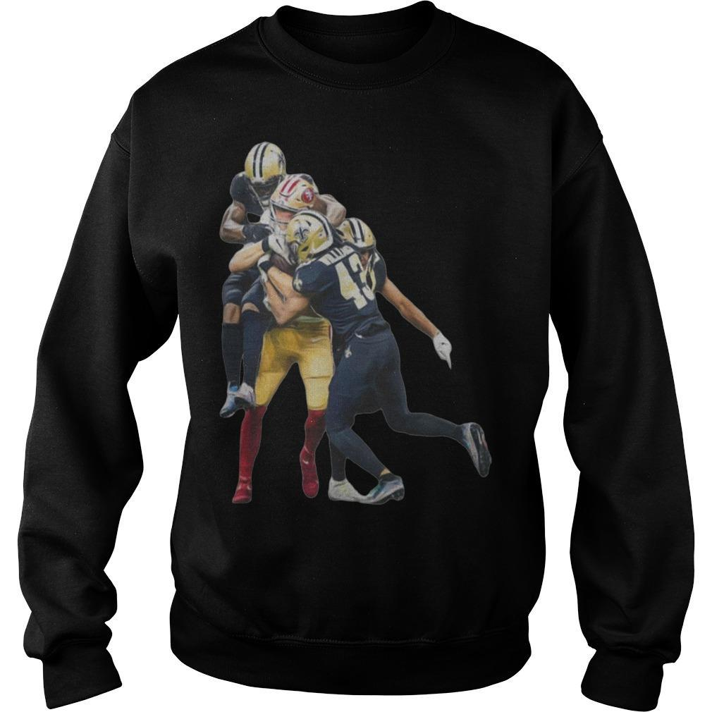 Sprint Football San Francisco 49ers And New Orleans Saints Players Sweater