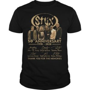 Styx 50th Anniversary 1970 2020 Thank You For The Memories Shirt