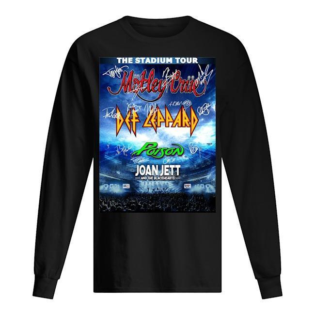 The Stadium Tour Motley Crue Def Leppard Poison Joan Jett Longsleeve