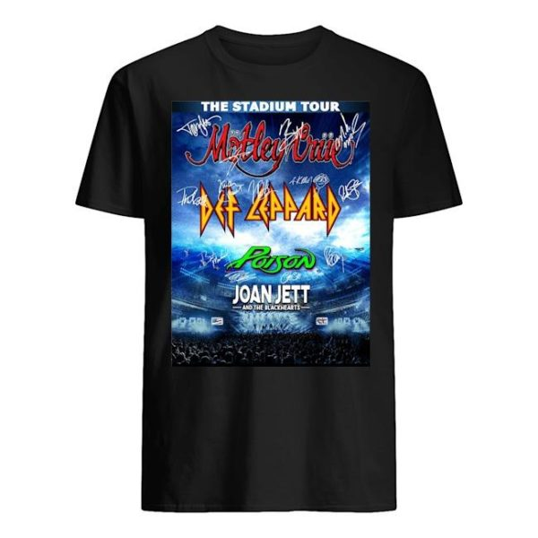 The Stadium Tour Motley Crue Def Leppard Poison Joan Jett Shirt