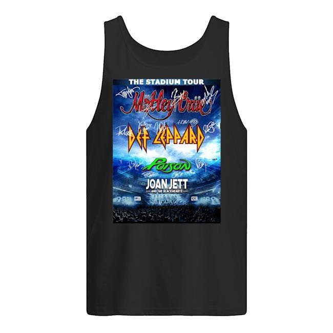 The Stadium Tour Motley Crue Def Leppard Poison Joan Jett Tank Top