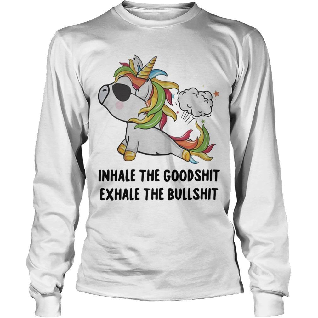 Unicorn Yoga Inhale The Goodshit Exhale The Bullshit Longsleeve