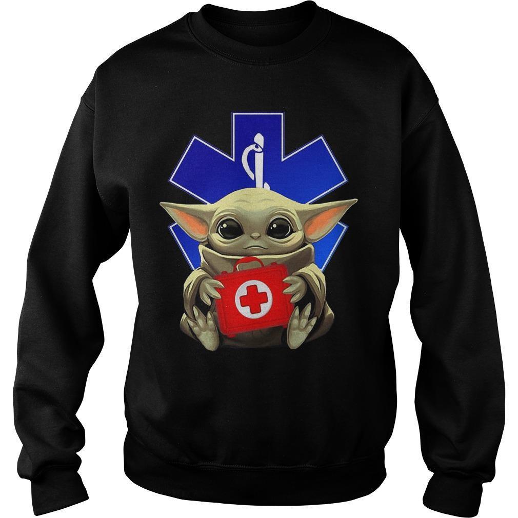 Baby Yoda Hugging Paramedic Sweater