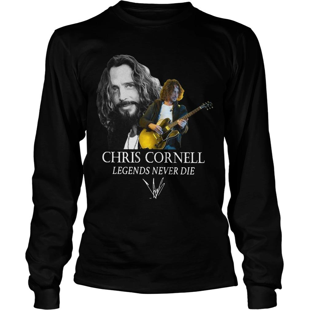 Chris Cornell Legends Never Die Signature Longsleeve
