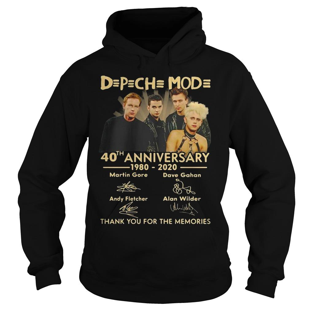 Depeche Mode 40th Anniversary 1980 2020 Hoodie