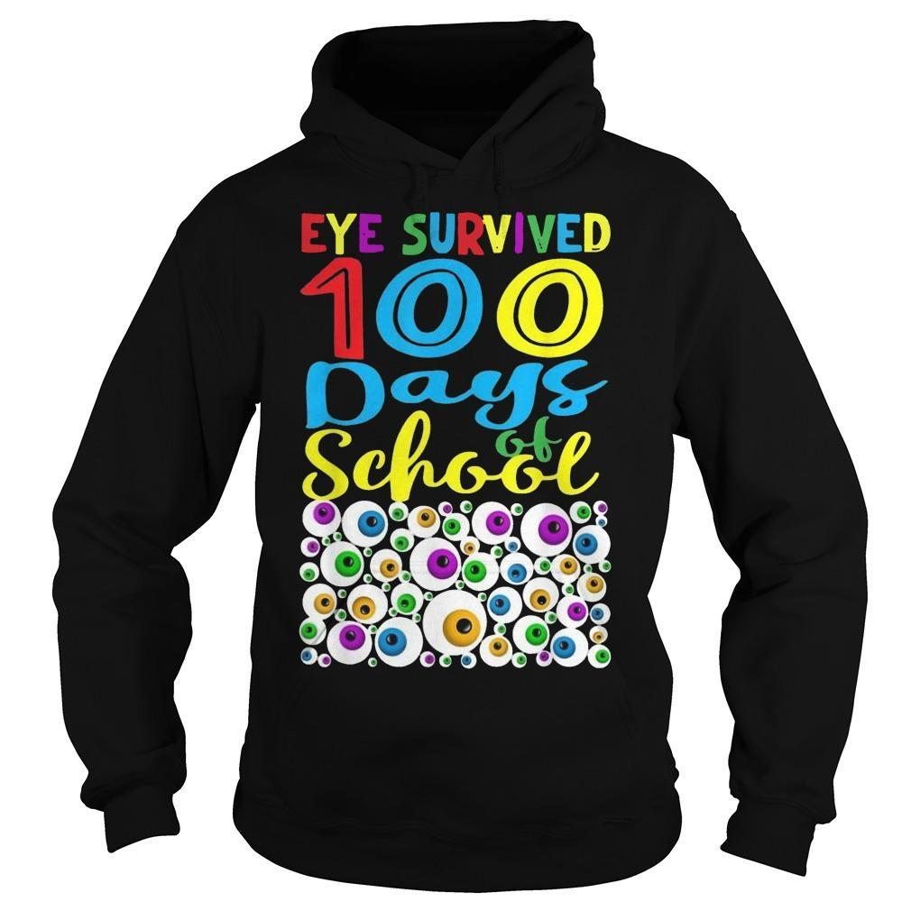 Eye Survived 100th Day Of School Hoodie