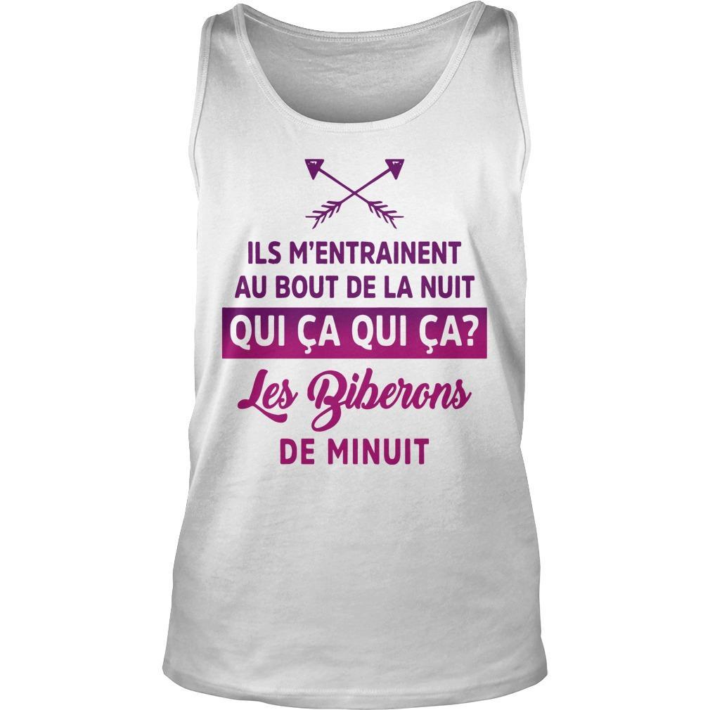 Ils M'entrainent Au Bout De La Nuit Qui Ca Qui Ca Les Biberons De Minuit Tank Top