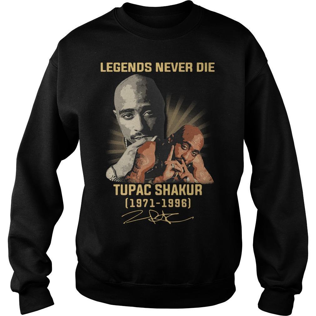 Legends Never Die Tupac Shakur 1971 1996 Signature Sweater