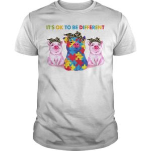 Pigs Autism It's Ok To Be Different Shirt