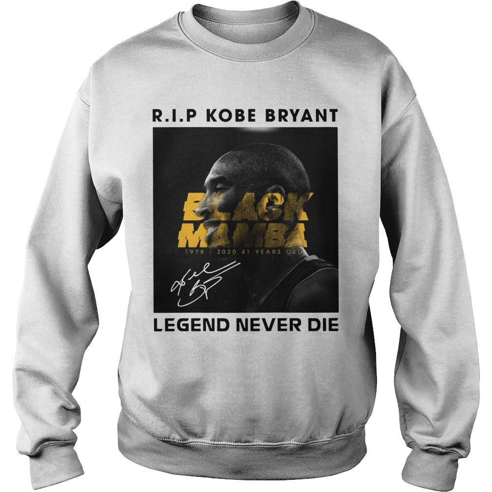 RIP Kobe Bryant Black Mamba Legend Never Die Sweater