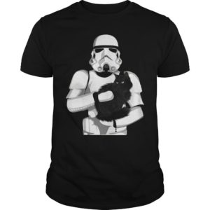 Stormtrooper Hugging Black Cat Shirt