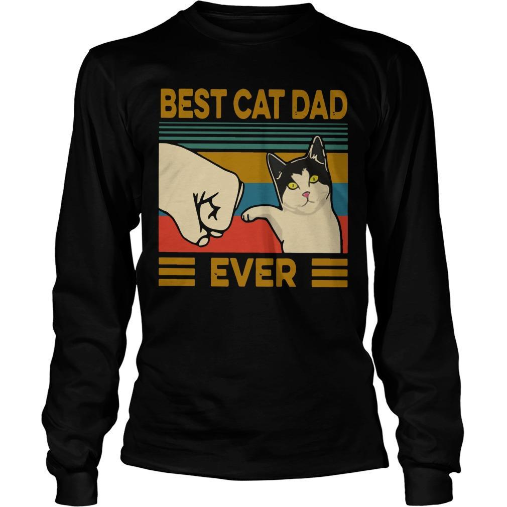Vintage Best Cat Dad Ever Longsleeve