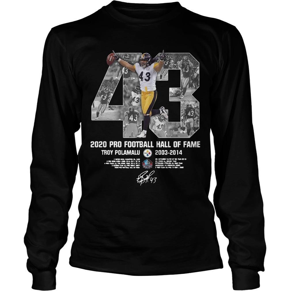 2020 Pro Football Hall Of Fame Troy Polamalu Longsleeve