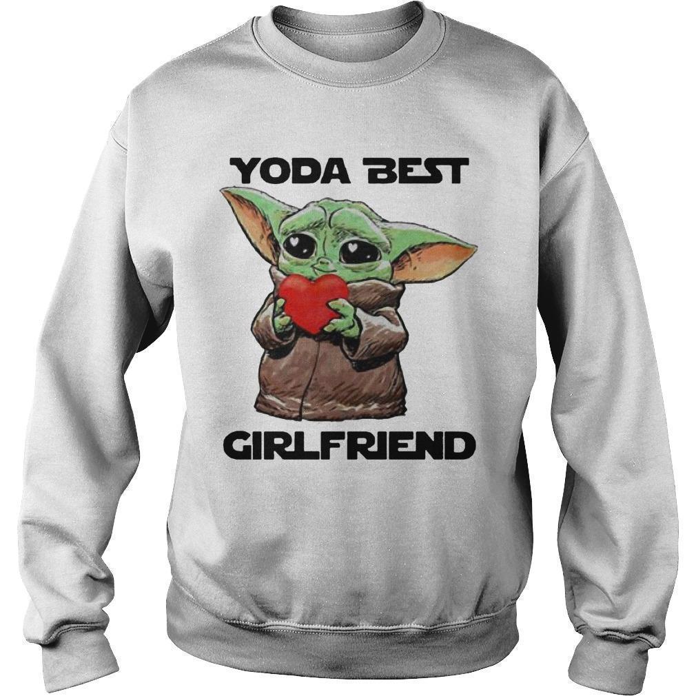 Baby Yoda Best Girlfriend Sweater