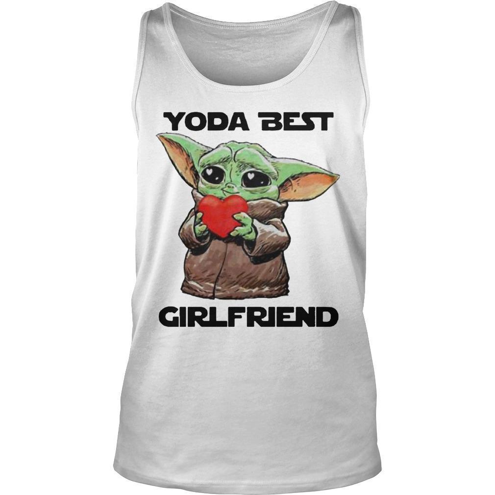 Baby Yoda Best Girlfriend Tank Top