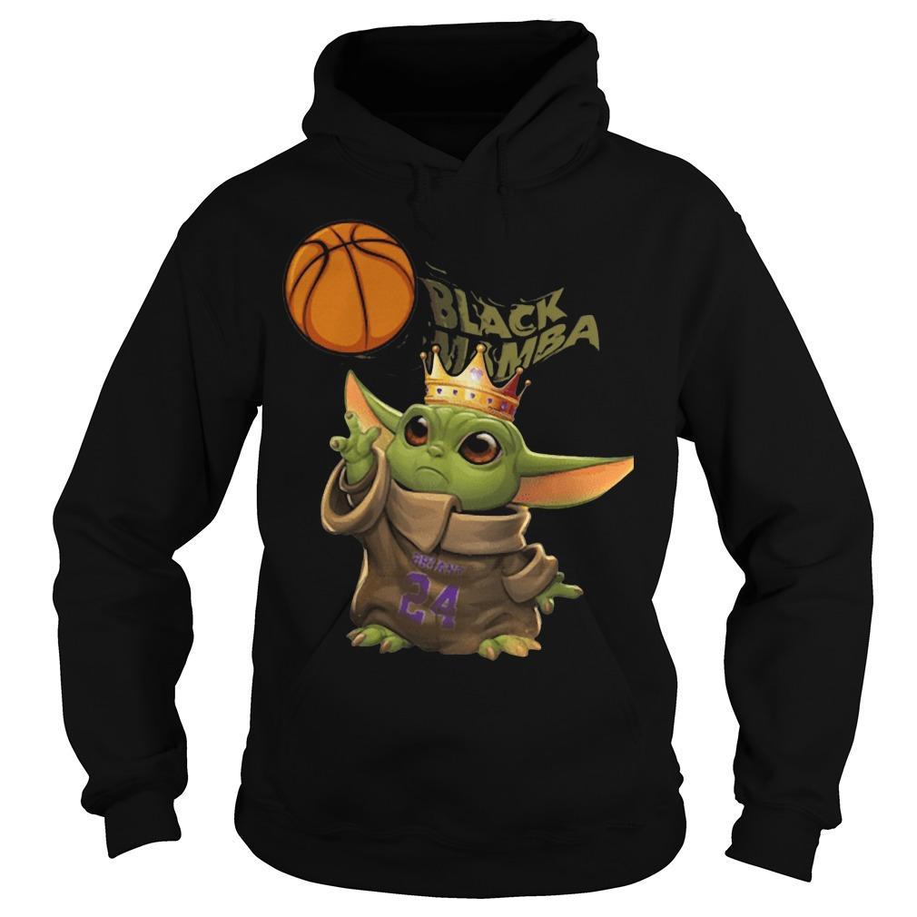 Baby Yoda Black Mamba Hoodie