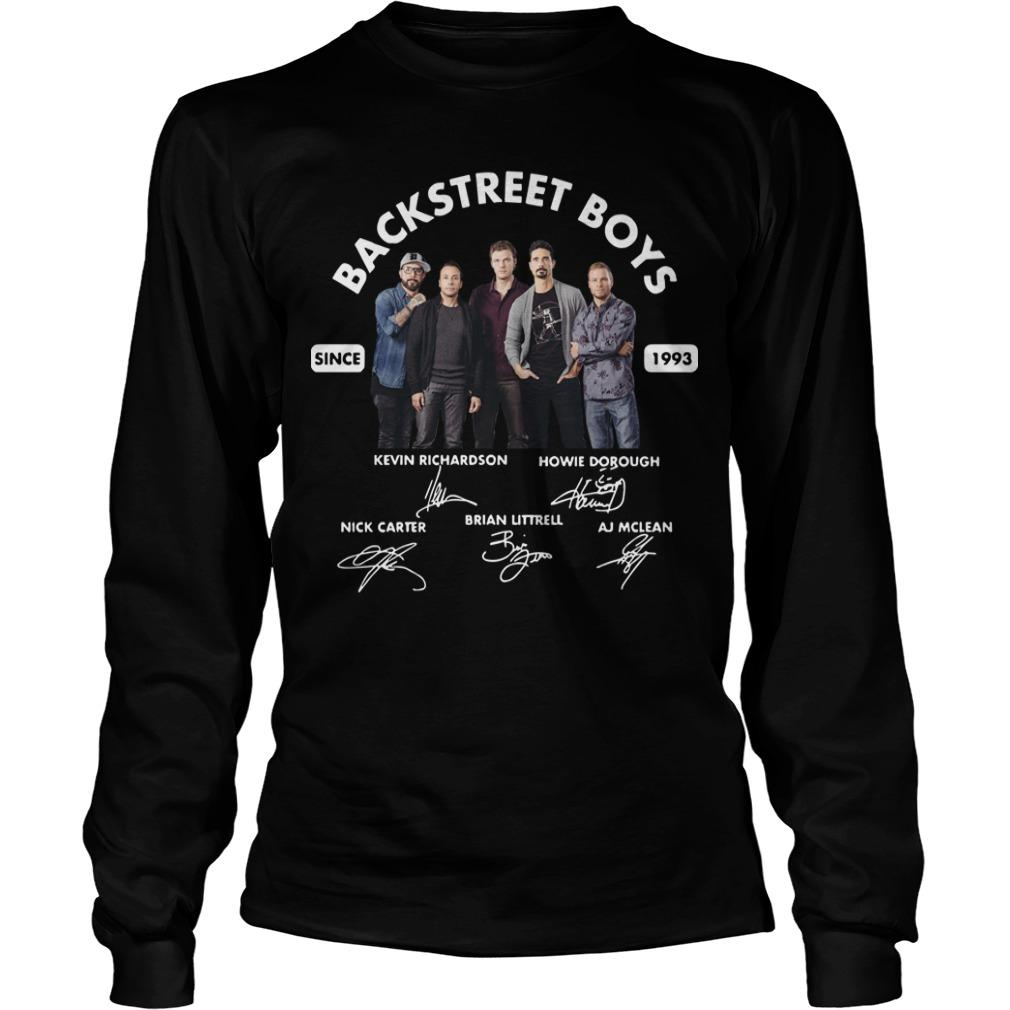 Backstreet Boys Signature Since 1993 Longsleeve