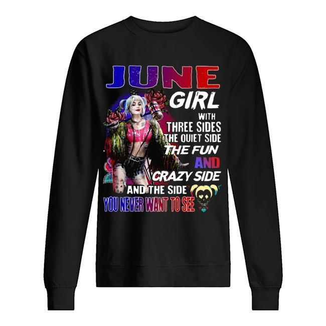 Bird Of Prey's Harley Quinn June Girl With Three Sides The Quiet Side The Fun Sweater