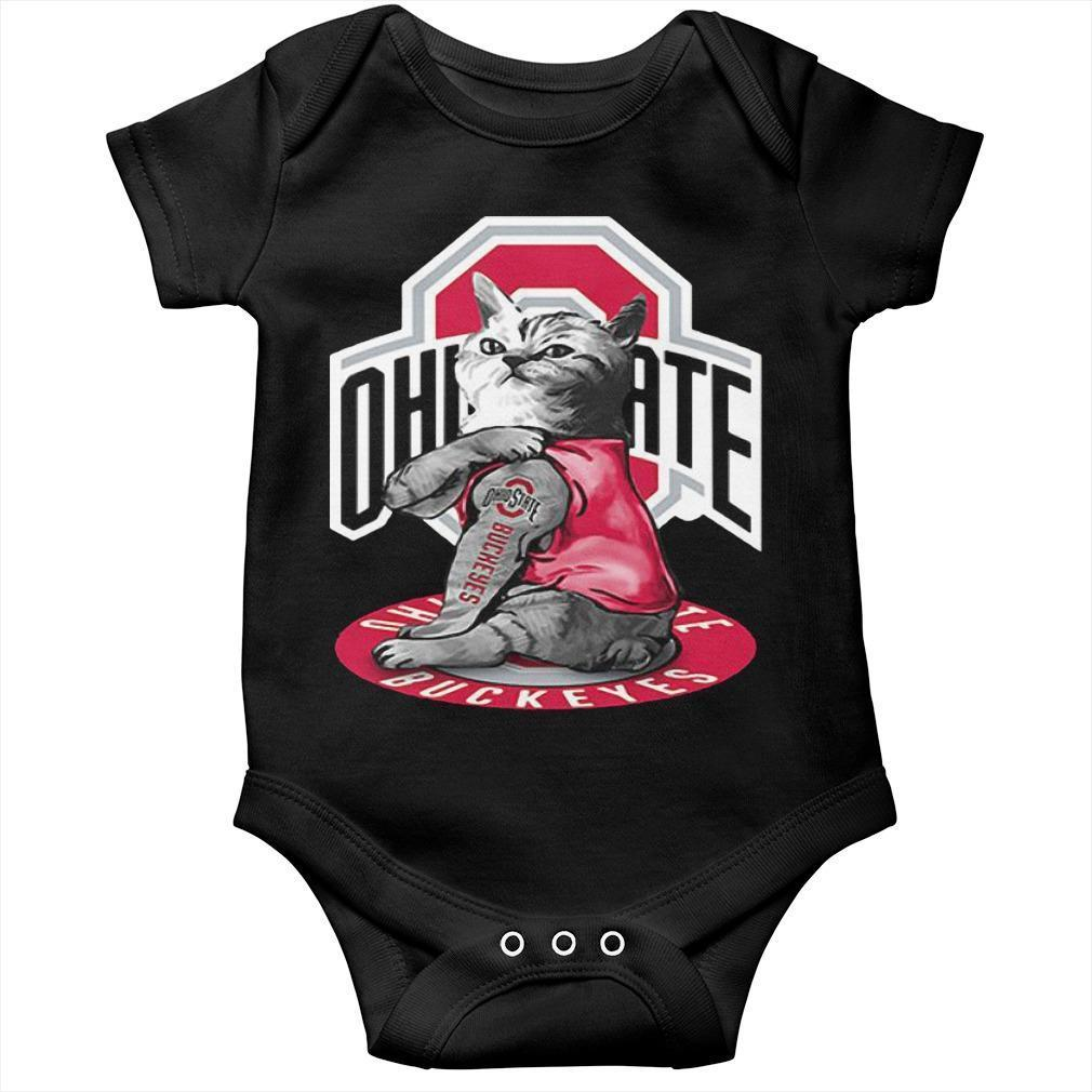 Cat Tattoos Ohio State Buckeyes Longsleeve