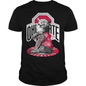 Cat Tattoos Ohio State Buckeyes Shirt